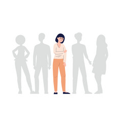 Sad unhappy lonely young woman feeling loneliness vector