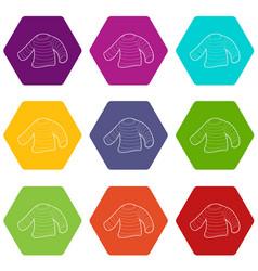 Seaman clothes icons set 9 vector
