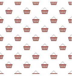 Shopping basket pattern vector