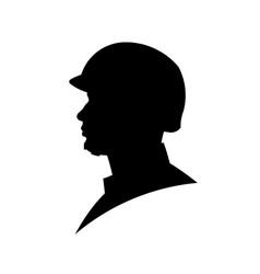 Silhouette military head vector