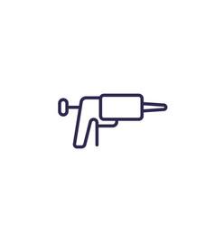 Silicone caulk gun icon line vector