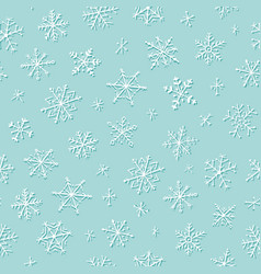 snowflakes winter and christmas seamless pattern vector image