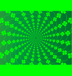 st patrick s day background with four-leaf vector image