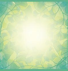 Sunshine ginkgo floral background vector
