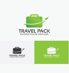 Travel pack logo design vector