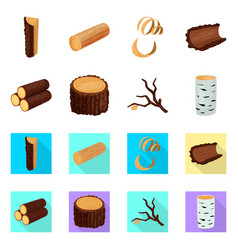 tree and raw icon set of vector image