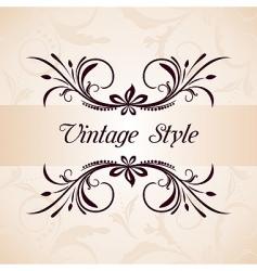 vintage background vector image