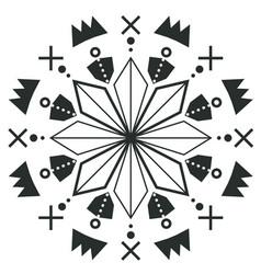 Vintage circle arrow design tattoo image vector