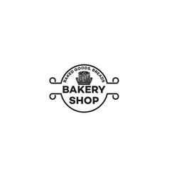 vintage cupcake bakery shop logo vector image