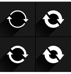 White arrow icon refresh reset repeat sign vector