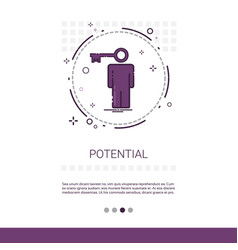 Worker potential talent web banner with copy space vector