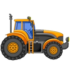 yellow tractor cartoon for you design vector image
