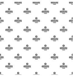 Zombie apocalypse pattern seamless vector
