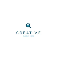 Zoom lab creative science logo design vector