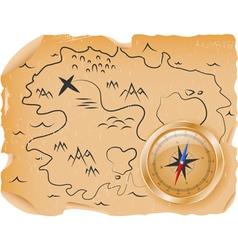 Ancient treasure map vector