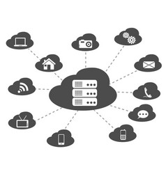 black cloud networking background vector image vector image