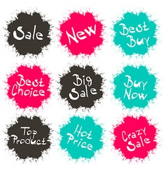 Business splashes - blots icons with sale - new - vector