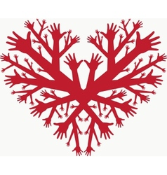 hearth of hands vector image