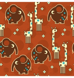 safari seamless pattern vector image