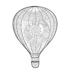 Aeronautic balloon coloring book for adults vector image