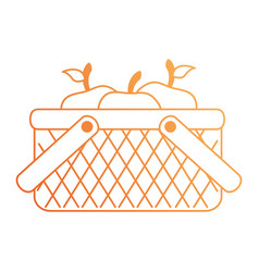 basket with apples icon vector image vector image