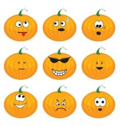 cartoon pumpkins vector image