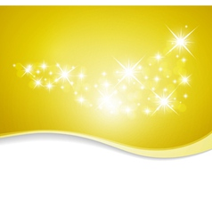 golden stars with stars vector image vector image