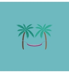hammock and palm trees vector image