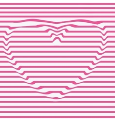 heart line stencil dent the imageDesign vector image