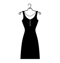 monochrome silhouette of the female dress in vector image