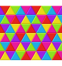 Multicolored triangles seamless background pattern vector image