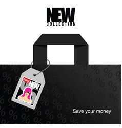 new collection with save money in colorful vector image