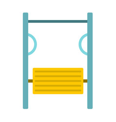 Exerciser on playground icon flat style vector