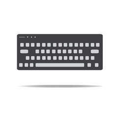 keyboard icon in trendy flat style keyboard sign vector image vector image