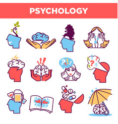 psychology abstract symbols and conceptual vector image