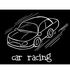 A car racing vector image vector image
