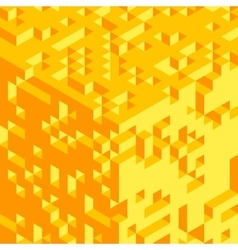 Abstract 3d geometrical background Mosaic vector image vector image