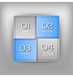 business four squares blue with text vector image vector image
