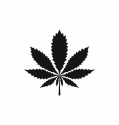 Marijuana leaf icon simple style vector image