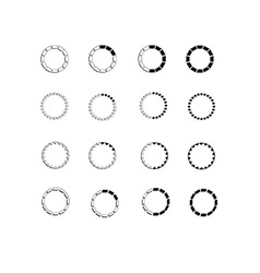 Round bars vector image