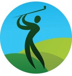 sport silhouette series golf vector image