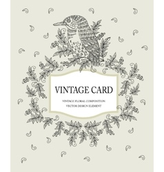 Vintage card in pastel colors with a stylized vector