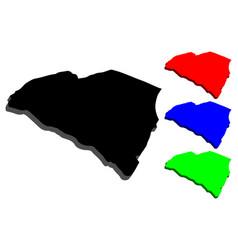3d map of south carolina vector