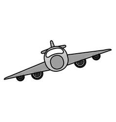 Airplane flat scribble vector