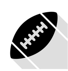 american simple football ball black icon with vector image