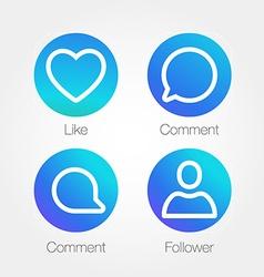 App Icon Template Gradient Fresh Color Set vector