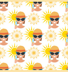 beach accessories summer fashion beach travel vector image