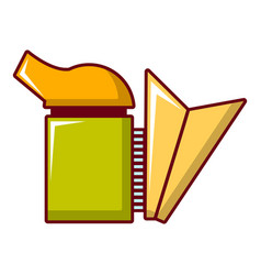 beekeeping smoker icon cartoon style vector image