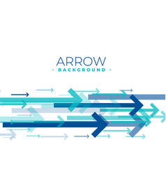 Blue arrows moving forward background in blue vector