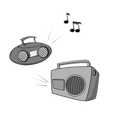boomboxes vector image